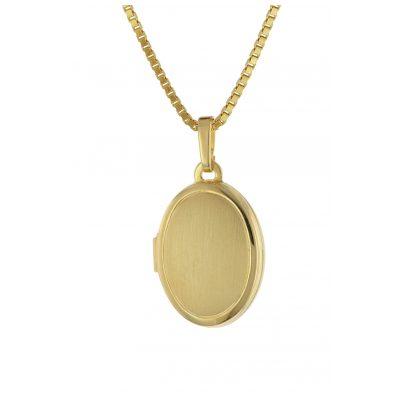 trendor 75727 Medaillon mit Damen-Kette Gold auf Silber 4260641757275