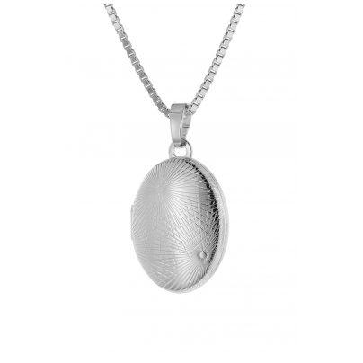 trendor 75754 Damen-Halskette mit Medaillon Silber 925 4260641757541