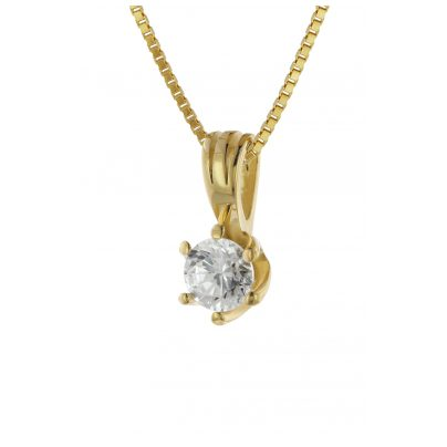 trendor 75798 Pendant with Zirconia Gold 333 + Gold-Plated Necklace 4260641757985