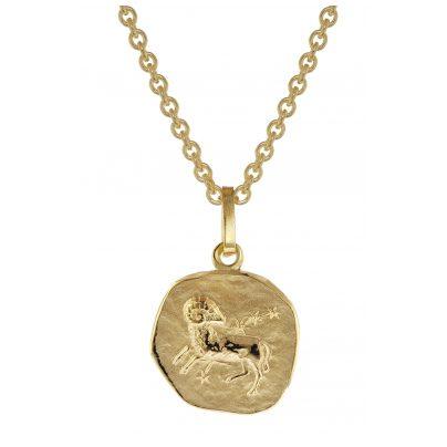 trendor 75905-04 Sternzeichen für Kinder Widder Gold 333 Anhänger + Halskette 4260641759040