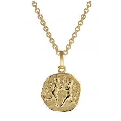 trendor 75905-06 Sternzeichen für Kinder Zwilling Gold 333 Anhänger + Kette 4260641759064