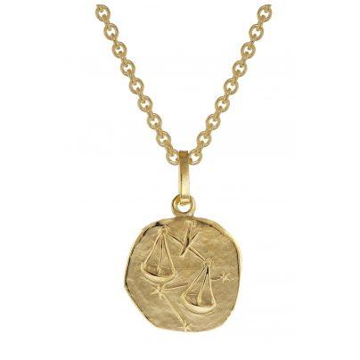 trendor 75905-10 Sternzeichen für Kinder Waage Gold 333 Anhänger + Halskette 4260641759101