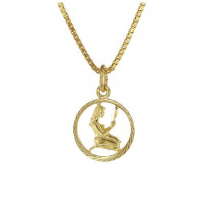 trendor 75990-09 Kinder Sternzeichen Jungfrau 333 Gold + goldplattierte Kette 4260641759941