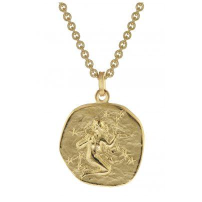 trendor 39070-09 Jungfrau Sternzeichen Anhänger Herrenkette Gold auf Silber