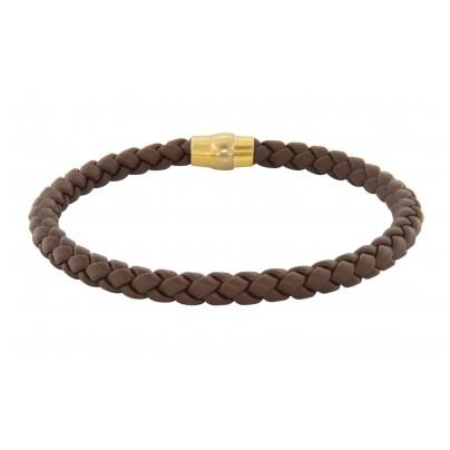 trendor 81705 Armband für Herren Braunes Geflecht Magnetschließe 4260266581705