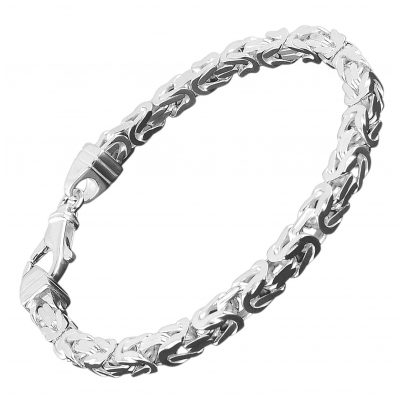 trendor 86106 Königskette Herren-Armband Sterlingsilber 925 Breite 4,7 mm