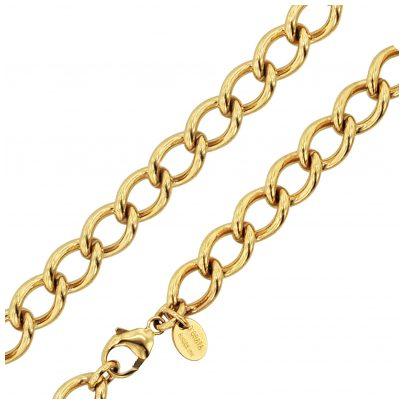 trendor 74003 Halskette für Damen Goldbeschichtet Breite 10 mm 4260333974003