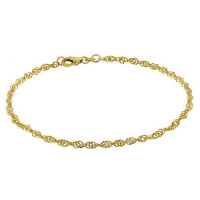 trendor 50521 Armband Frauen 333 Gold Singapur 2,4 mm 4260435350521