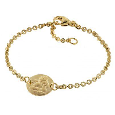 trendor 75089 Armband für Kinder 333 Gold/8 Kt mit Engel-Plakette 16 cm 4260641750894