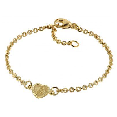 trendor 75091 Armband für Babys 333 Gold/8 Kt mit Engel-Plakette 14 cm 4260641750917