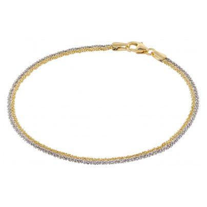 trendor 75147 Bracelet Criss-Cross Sterling Silver 925 Two-Tone 4260641751471
