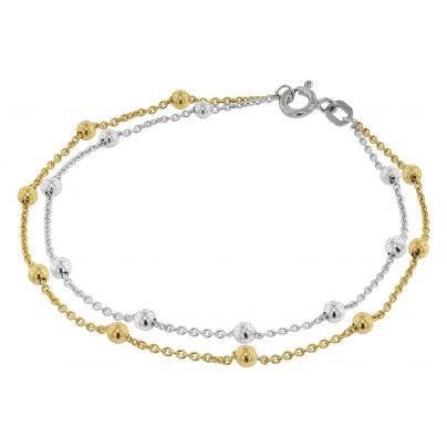 trendor 75237 Armband für Junge Damen 925 Silber Bicolor 4260641752379
