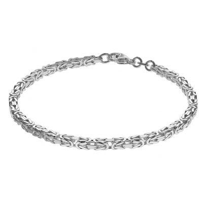 trendor 75236 Armband Königskette Sterlingsilber 925 Stärke 3,3 mm 4260641752362