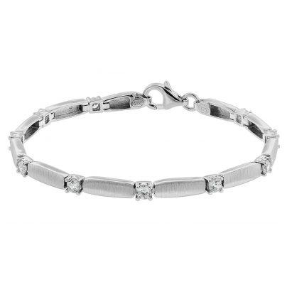 trendor 75585 Damen-Armband Silber 925 Zirkonia 4260641755851