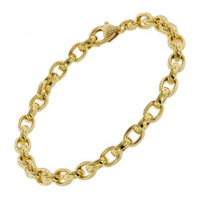 trendor 75662 Armband für Damen Erbsmuster Silber Vergoldet 19 cm 4260641756629