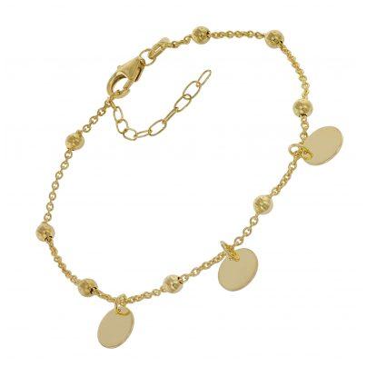 trendor 75670 Damen-Armband Armkettchen Silber 925 Vergoldet 4260641756704