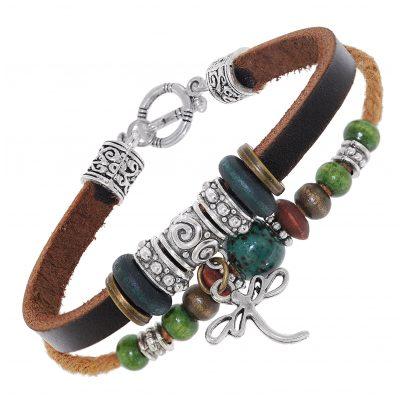 trendor 75805 Unisex Leder-Armband Braun 4260641758050