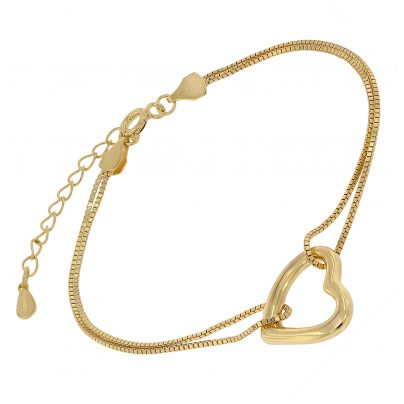 trendor 75851 Women's Bracelet Gold Plated Silver Heart 4260641758517