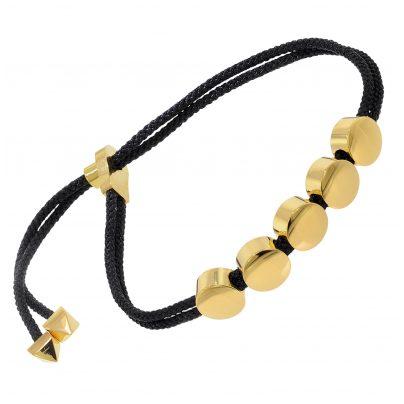 trendor 75889 Damen-Armband Edelstahl Vergoldet und Leder 4260641758890