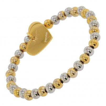 trendor 75892 Armband für Damen Herz Edelstahl Bicolor 4260641758920