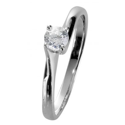 trendor 35241 Damenring Weißgold 585 Brillant 0,22 ct Verlobung Heiratsantrag