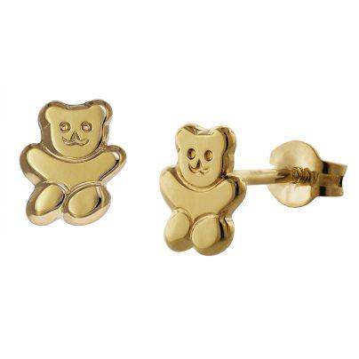 trendor 35739 Teddybär Gold-Ohrringe 4260435357391