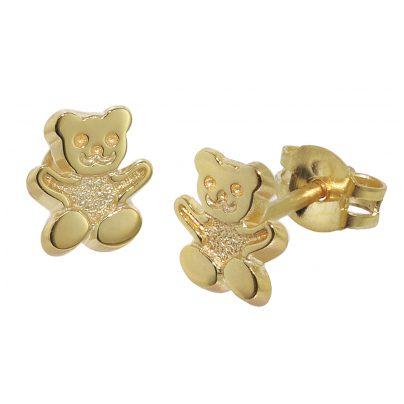 trendor 08486 Kinder-Ohrstecker Teddy 333/8 Karat Gold 4260497084860
