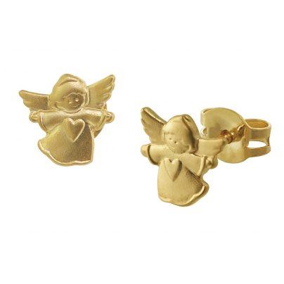 trendor 08755 Kinder-Ohrringe Engel Gold 585 4260497087557