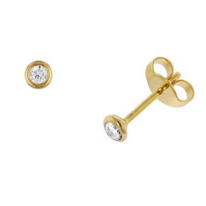 trendor 532648 Ohrringe mit Diamanten 0,15 kt.Gold 585/14K 4006025326480