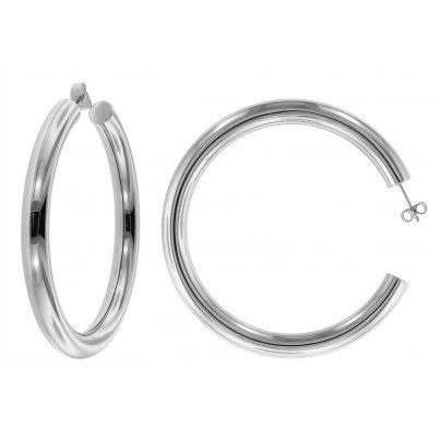 trendor 75027 Silber Creolen Ohrringe 60 mm 4260641750276