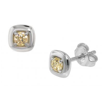 trendor 75081 Ohrringe für Damen Silber 925 mit Zirkonia 6 mm 4260641750818