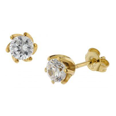 trendor 75797 Ohrstecker 333 Gold 8 Karat Ohrringe mit Zirkonia 4260641757978
