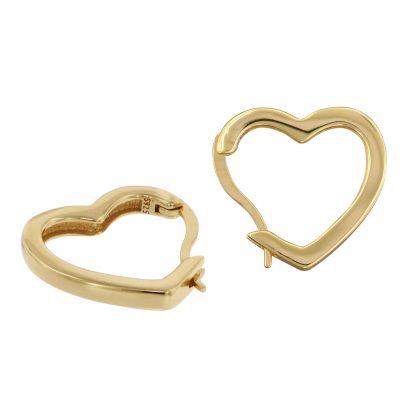 trendor 75838 Ohrringe Herz Creolen Gold auf Silber 4260641758388