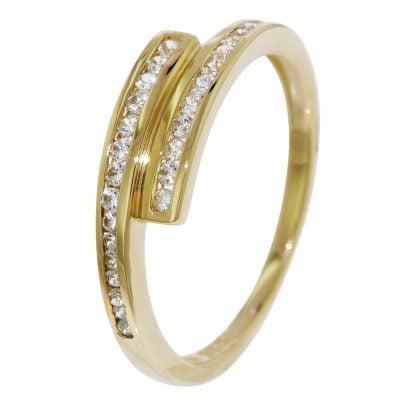 trendor 51627 Gold Zirkonia-Ring