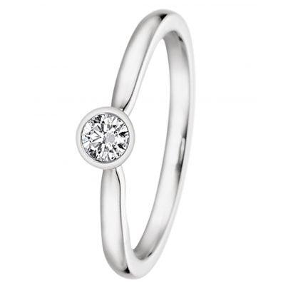 trendor 532484 Damenring Weißgold mit Diamant