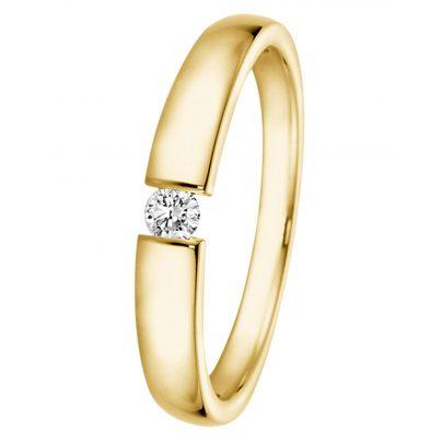 trendor 532506 Ring mit Diamant 0,05 ct Gold 585/14K