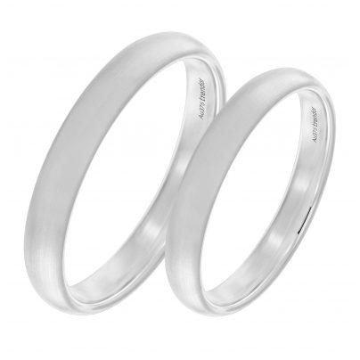 trendor 1004 Eheringe Paar Weißgold 375 Mattiert
