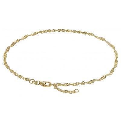 trendor 63263 Anklet 333 Gold Singapore Pattern 2.2 mm wide 4260227763263