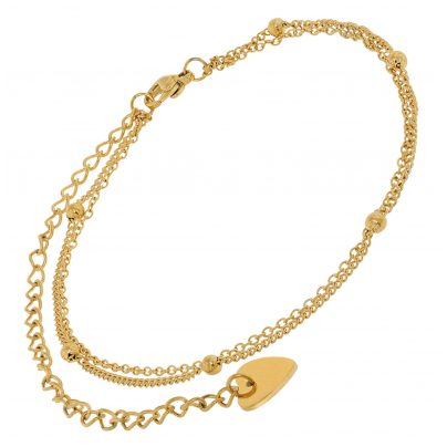 trendor 75888 Anklet Gold Plated Stainless Steel 4260641758883