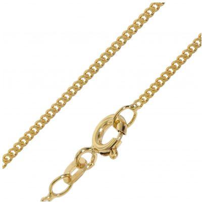 trendor 51986 Halskette für Anhänger 585 Gold Flachpanzer-Kette Breite 1,4 mm