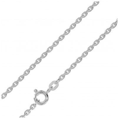 trendor 75179 Halskette für Anhänger 14 Karat Weißgold 585 Ankermuster