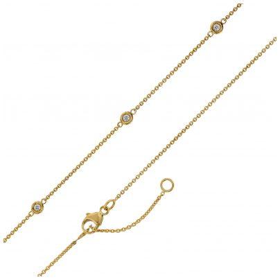 trendor 75194 Goldkette für Damen Gelbgold 375 mit Zirkonia 4260641751945