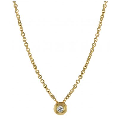 trendor 75202 Diamant-Halskette 0,05 ct WP Gold 585 4260641752027