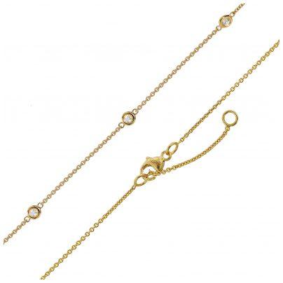 trendor 75299 Halskette mit Zirkonias Gold 375 (9 Karat) 4260641752997