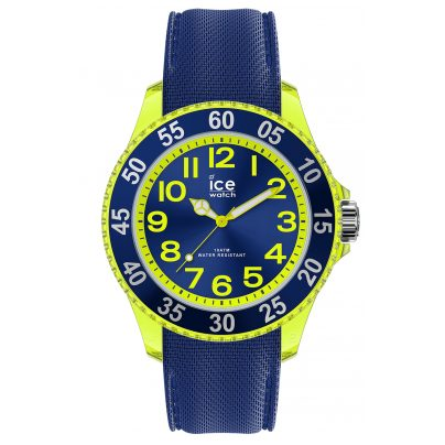 Ice-Watch 017734 Kinderuhr ICE cartoon Raumschiff Blau Gelb S 4895164096817
