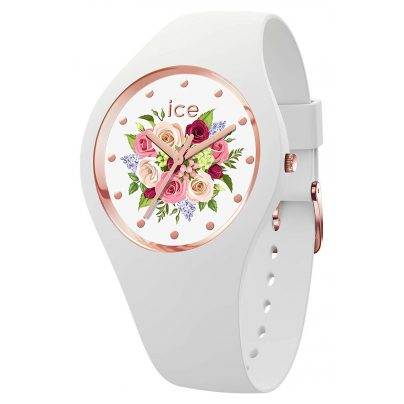 Ice-Watch 017575 Damenuhr ICE flower Blumenstrauß Weiß S 4895164094813