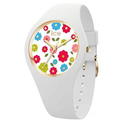 Ice-Watch 017582 Damen-Armbanduhr Flower Power Weiß S 4895164094882