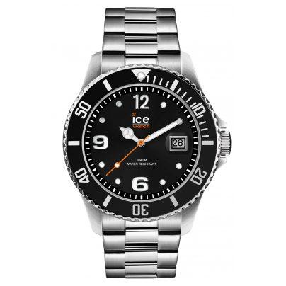 Ice-Watch 016032 Herrenuhr Ice Steel Black Silver L 4895164085910