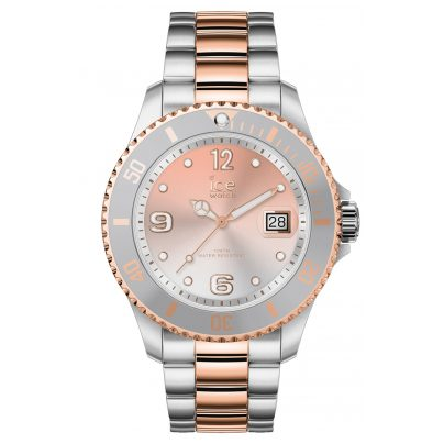 Ice-Watch 016769 Damenuhr Ice Steel Silver Sunset Rose-Gold M 4895164089956