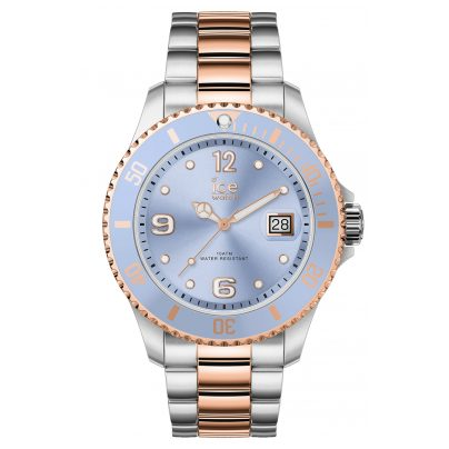 Ice-Watch 016770 Damenuhr Ice Steel Sky Silver Rose-Gold M 4895164089963